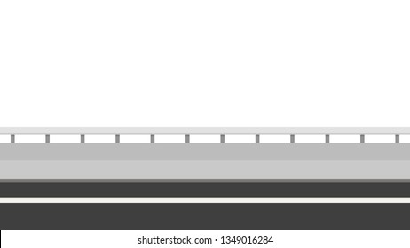 Road side vector. wallpaper. free space for text. copy space. Road fence.