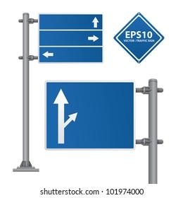 road sign blue color vector
