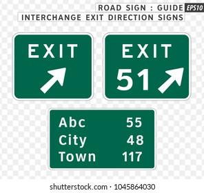Road sign. Hospital signs.  Vector illustration on transparent background