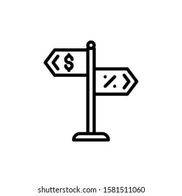 Road Sign Icon Outline Vector. Holiday Sale Icons. Online Shop Ikon.