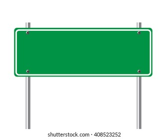 Road sign isolated on white background. Vector art.
