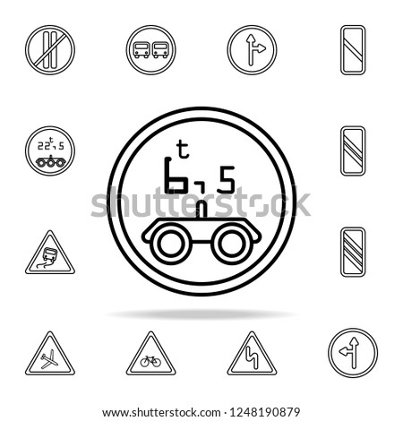 Road Sign Limitation 65 Tons Icon Stock Vector Royalty Free