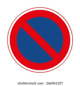 Road sign. Prohibitory sign. No parking.