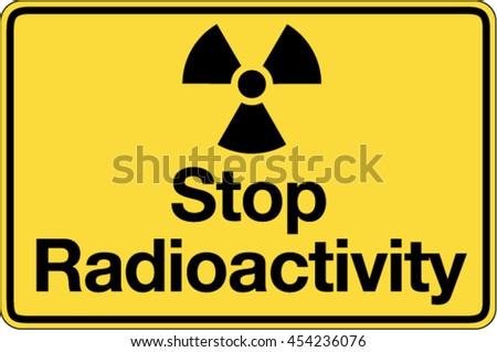 Road Sign Radioactive Symbol Stock Vector Royalty Free 454236076