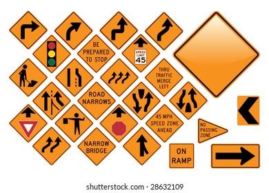Road Sign Set - Emergency