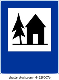 Road sign shelter vector