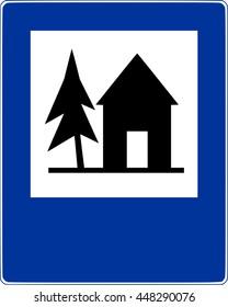Road sign shelter vector
