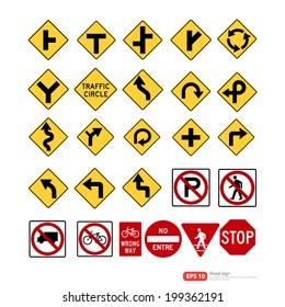 Road sign vector format