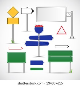 Road signs template vector