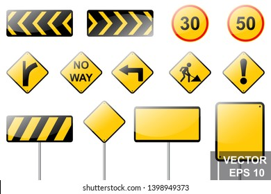 Road signs. Traffic rules. Legend For your design. Signboard.