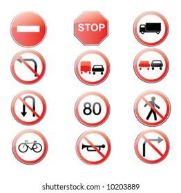 road signs in vector format