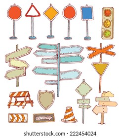 Road signs. Vector illustration.