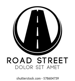 road street logo vector template design stock vector royalty free