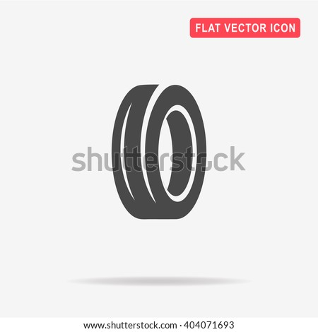 road tire icon vector concept illustration stock vector royalty