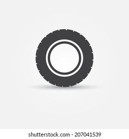Road tire vector icon - transportation minimal symbol