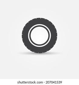 Road tire vector icon - transportation minimal symbol