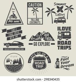 road trip badges,travel quote