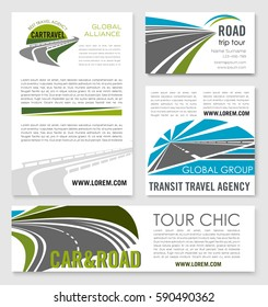 Highway Service Company Banners Tunnels Motorways Stock Vector