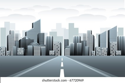 Road to urban city