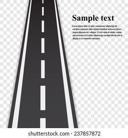 Road vector background