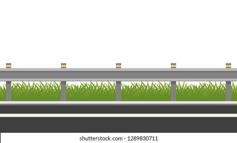Road vector. free space for text. wallpaper. copy space. grass vector