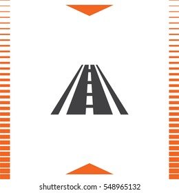 Road vector icon. Street sign. Highway symbol