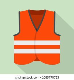 Road vest icon. Flat illustration of road vest vector icon for web design