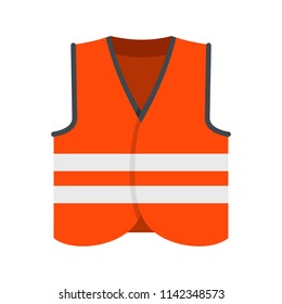Road vest icon. Flat illustration of road vest vector icon for web isolated on white