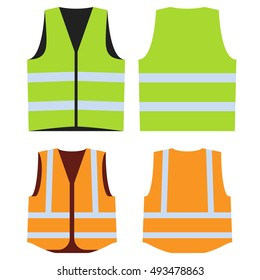 Objective Yellow Reflective Vest Reflective Jacket High Visibility Knitted Reflective Safety Vest Logo Printing Vest Safety On Road Firm In Structure Safety Clothing