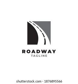 Road way logo design symbol vector template