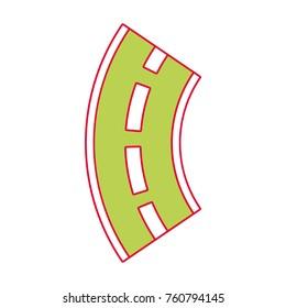 road winding street navigation element
