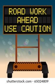road work digital bulletin board