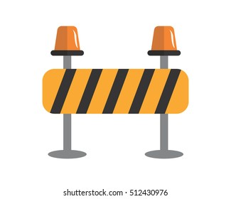 roadblock construction repair fix engineering tool equipment image vector icon logo