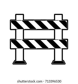 roadblock road safety icon image