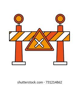 roadblock road sign icon image