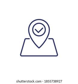 roadmap line icon on white