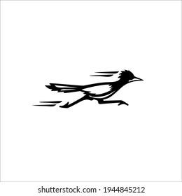 Roadrunner Symbol Logo. Tattoo Design. Vector Illustration.