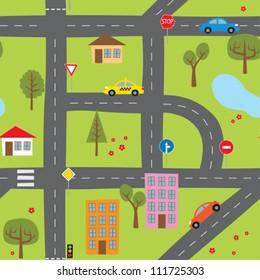 cartoon road images stock photos vectors shutterstock rh shutterstock com cartoon roadsters cartoon road map