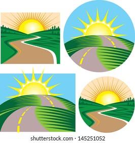 Roads and Sunrises