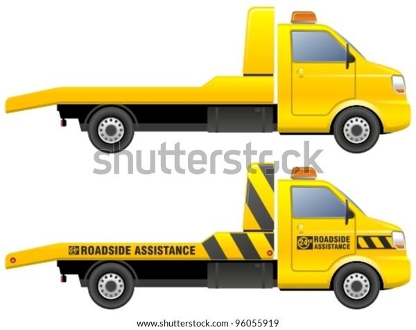 Roadside assistance car towing truck.