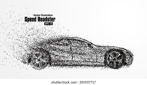 Roadster particles, symbolizing speed vector illustration.