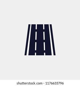 roadway icon, highway icon, road icon vector