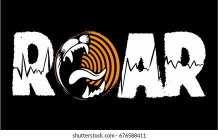 Roar vector writing, vector logo