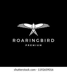 roaring bird logo vector icon illustration