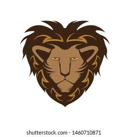 Roaring Lion Head Logo Vector Template Icon