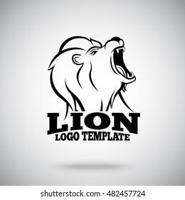 Roaring Lion vector logo template for sport teams, brands etc.