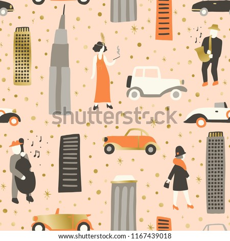 Roaring twenties Vector hand