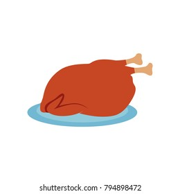 roast chicken - poultry illustration
