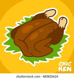 roasted chicken sticker