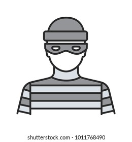 Robber color icon. Thief. Housebreaker. Isolated vector illustration